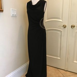 NWT Spence black knit gown with stud details